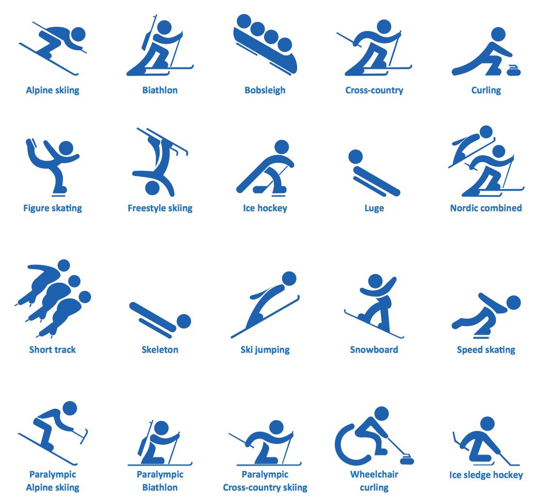 Winter Olympic Sports Symbols
