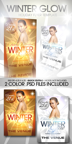 Winter Party Flyer Template Free