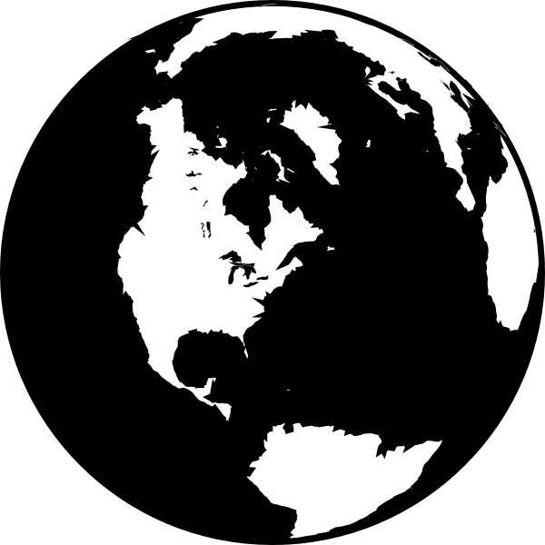 18 Black And White Globe Icon Vector Images