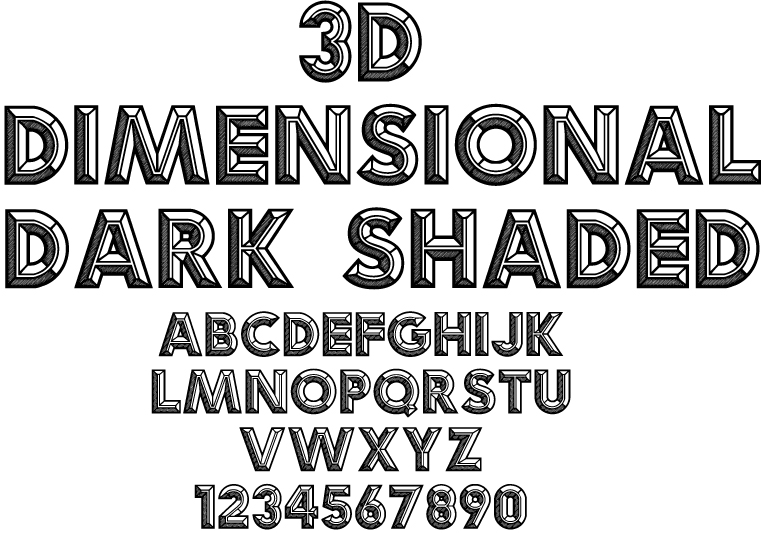 17 3D Shaded Font Images - 3D Shaded Fonts, Cool Hand ...