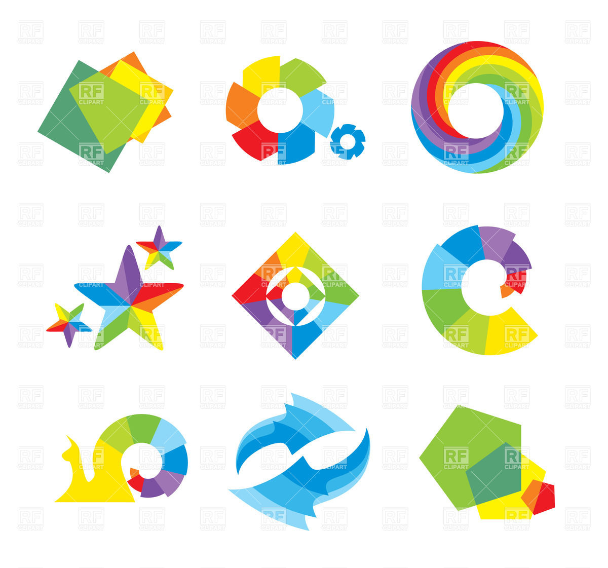 10 Geometric Shapes Design Vector Images Geometric