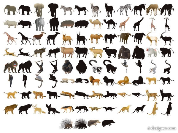 Animal Silhouettes Vector Free