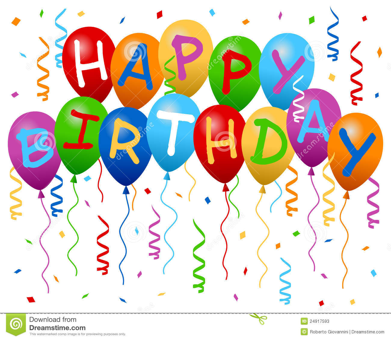 16 Happy Birthday Balloons Graphics Images