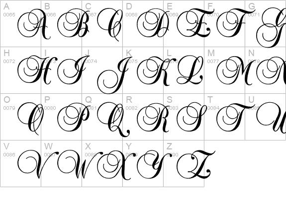 Vintage calligraphy fonts something