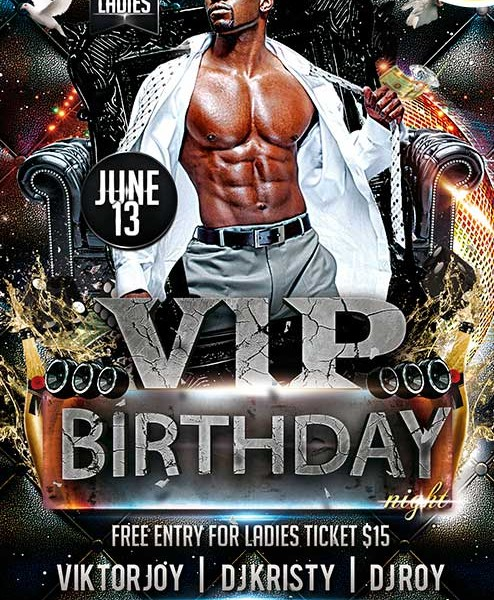 16 Free Birthday Flyer Template PSD Images