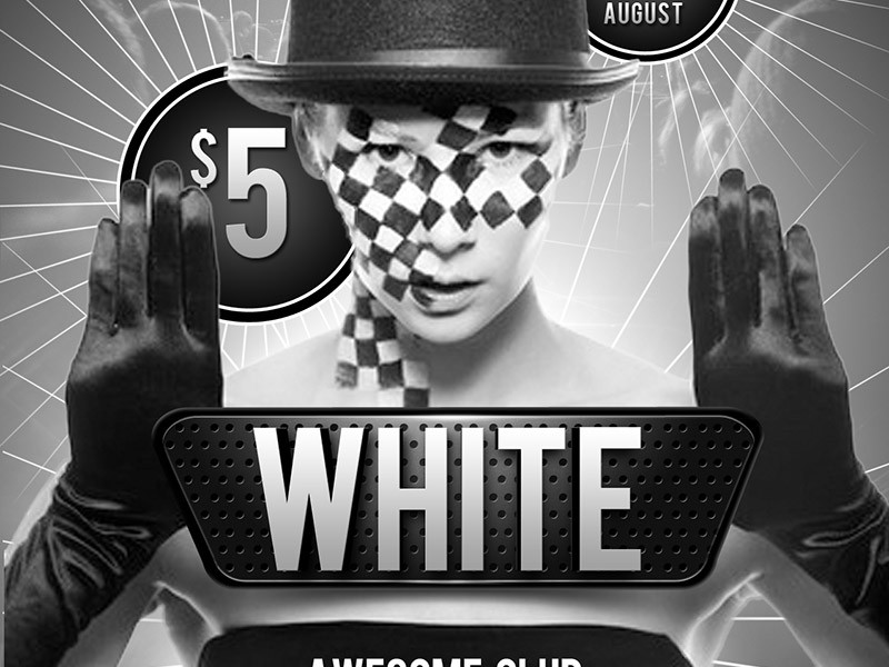 12 Black And White Psd Images - Black And White Flyer Templates