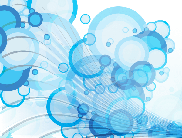 18 Blue Vector Bubbles Images
