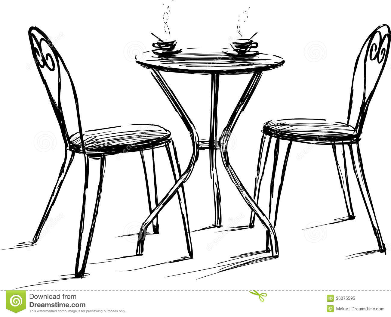 Plan table and chairs vector images free floor
