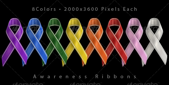 11 Awareness Ribbon PSD Images