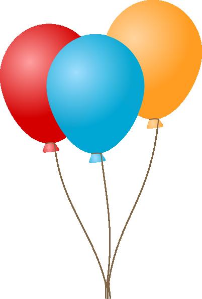 Cartoon Birthday Balloons Clip Art
