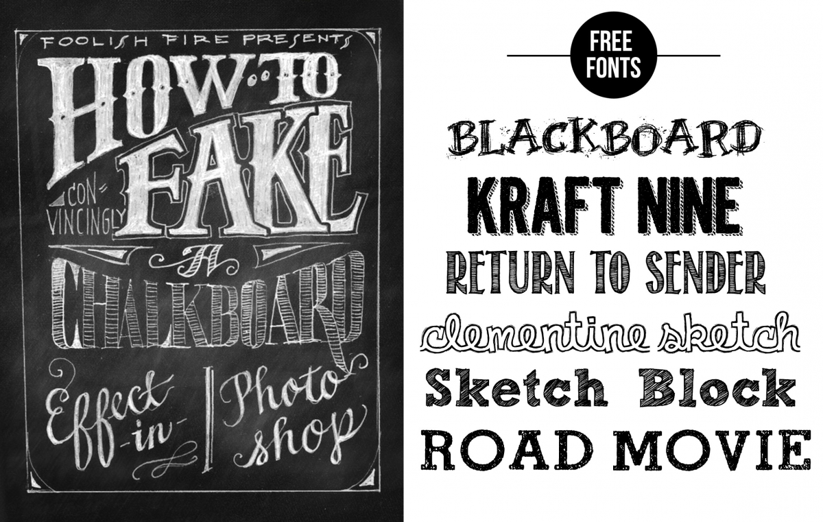 11 Chalkboard Typography Font Images