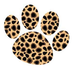 Cheetah Paw Print Clip Art
