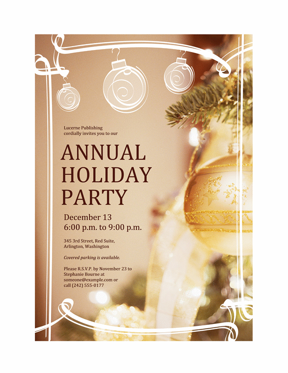 17 Holiday Party Template Images