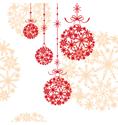 12 Abstract Vector Clip Art Christmas Decorations Images