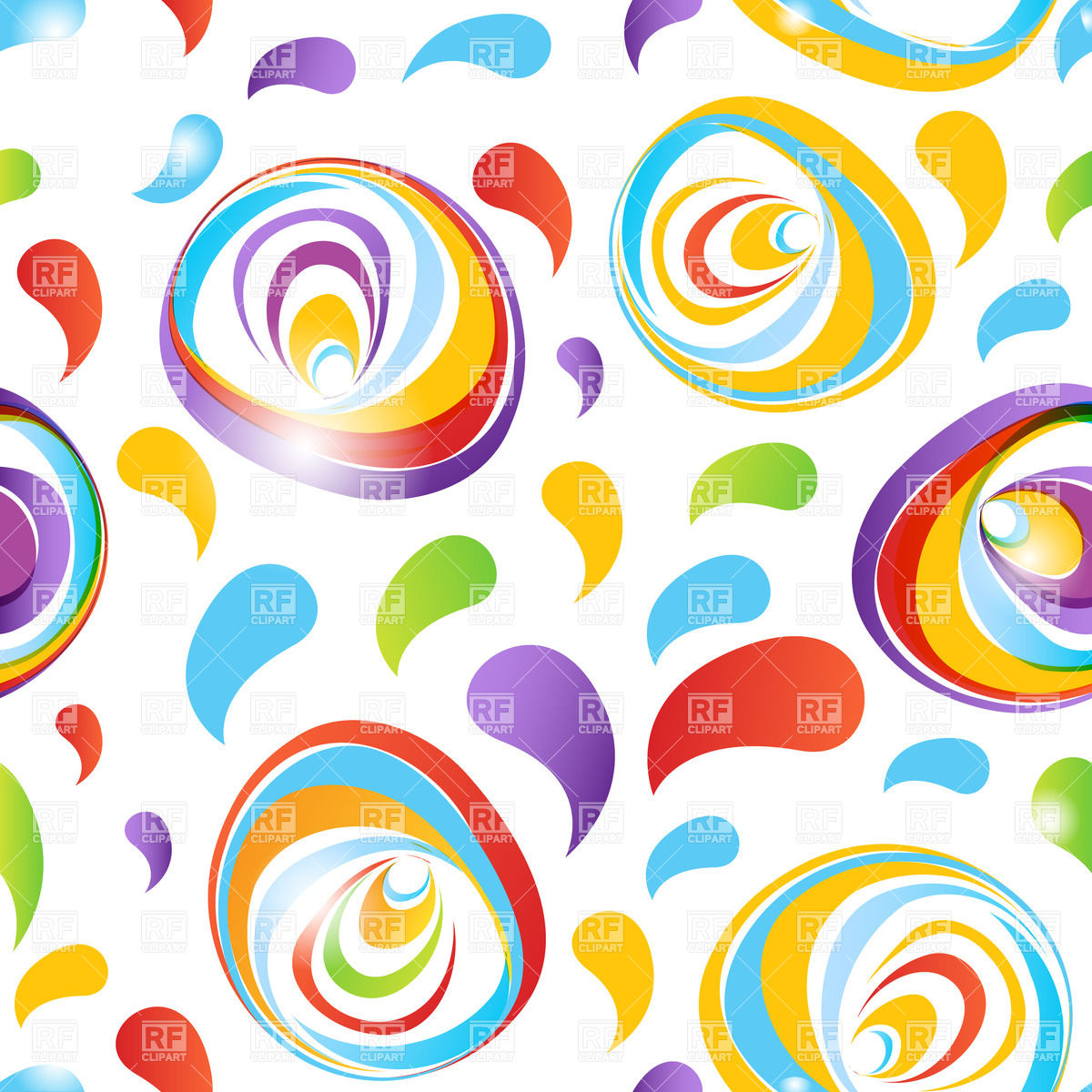 Colorful Abstract Flower Pattern Backgrounds