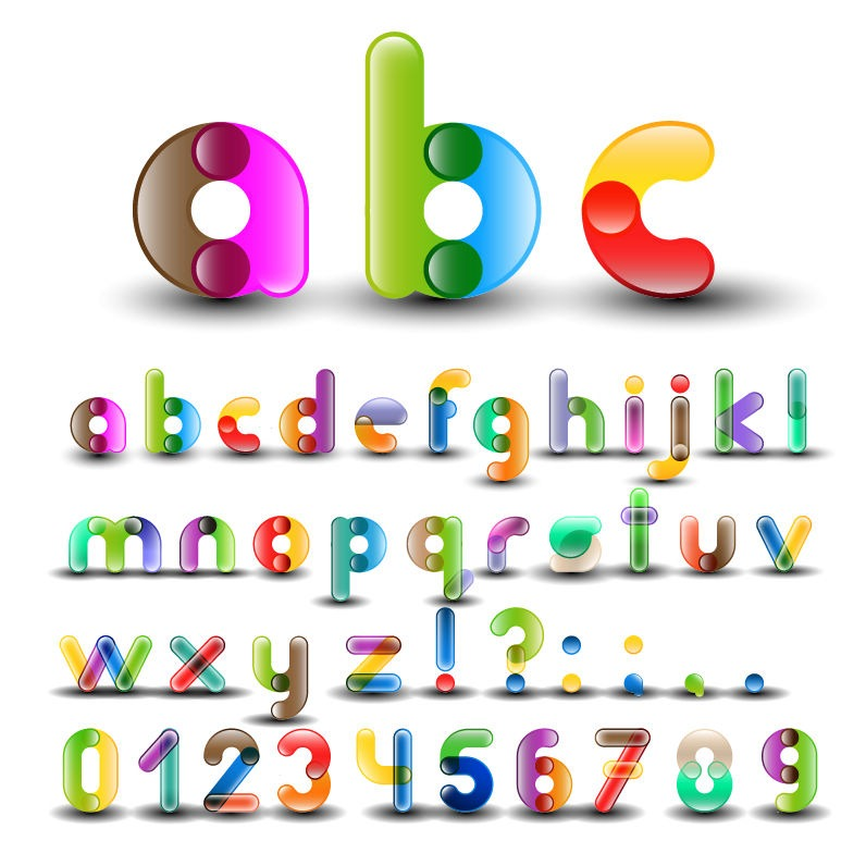 13 Colorful Number Fonts Images
