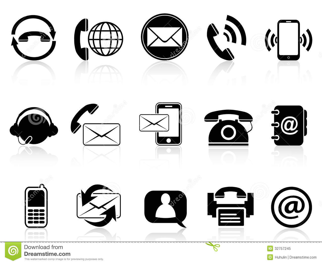 19 Contact Icon Set Circle Free Images