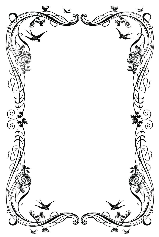 12 Fancy Page Border Designs Images - Decorative Page ...