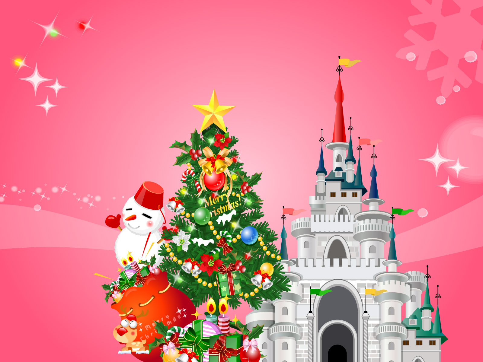 12 Disney Christmas Vector Images