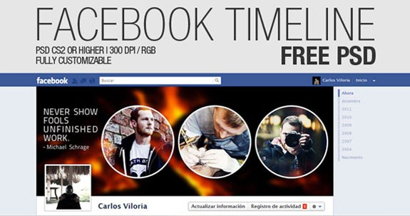 13 Free Facebook Timeline Cover PSD Images