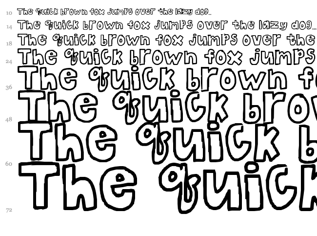 Fancy Bubble Letter Font