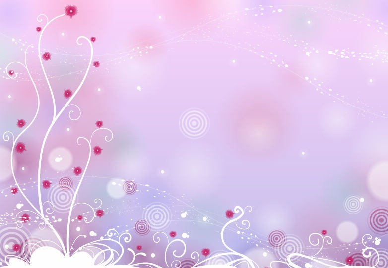 Floral Background Design Vector Graphics