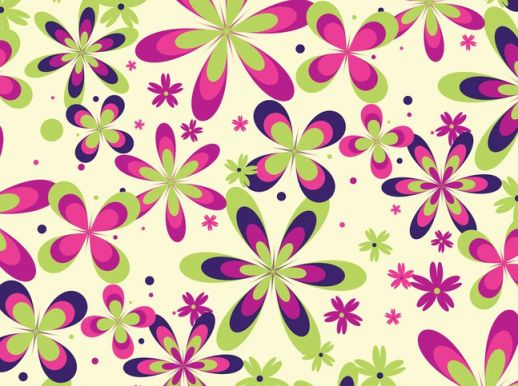 Floral Pattern Colorful Flowers
