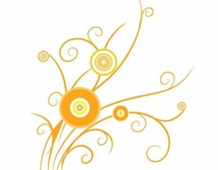 Floral Swirl Design