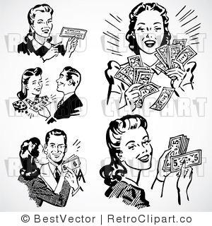 Free 1950' Retro Clip Art