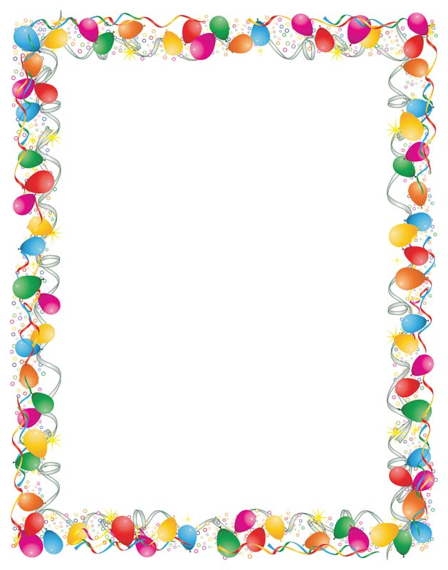 Free Celebration Border Design