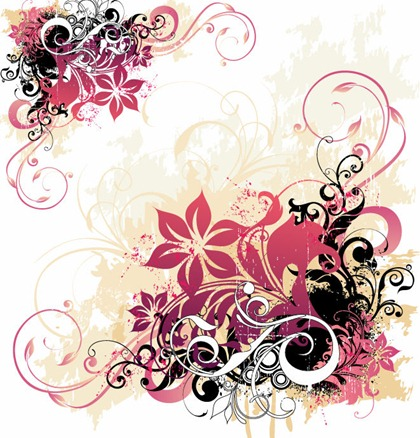 Free Graphic Vector Swirls and Flowers