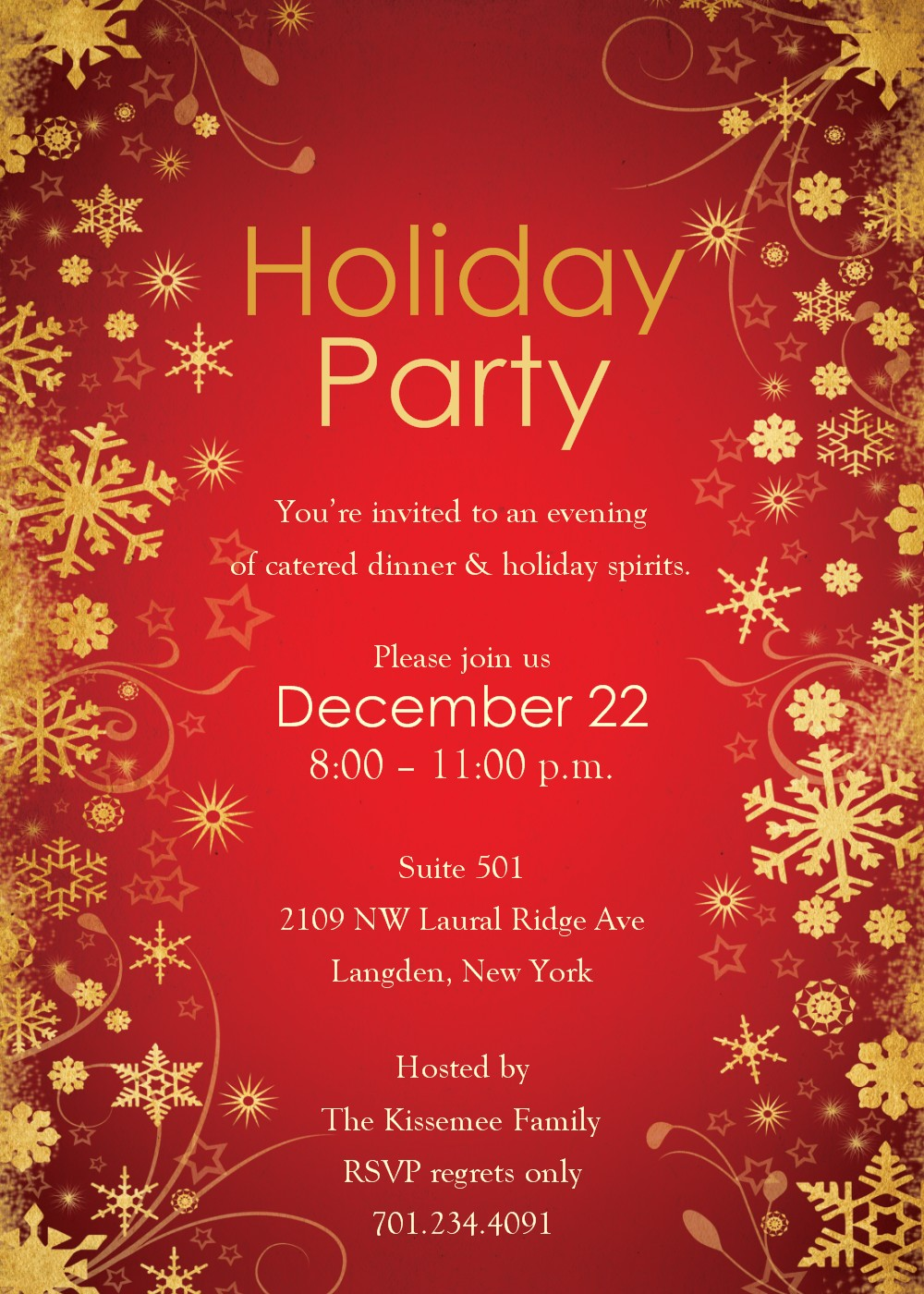 17 Holiday Party Template Images Christmas Holiday Party