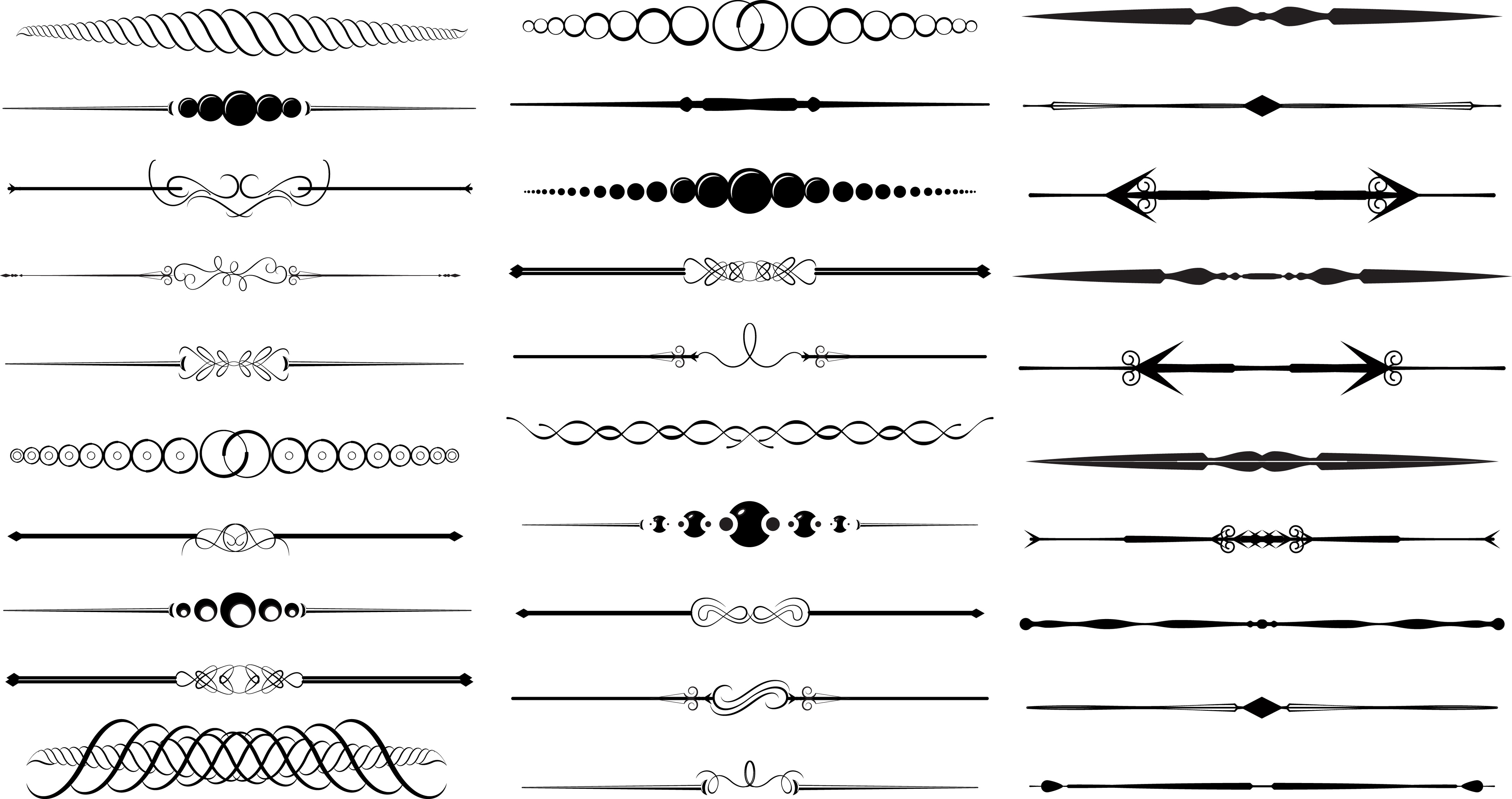 11 free vector decorative divider clip art images free