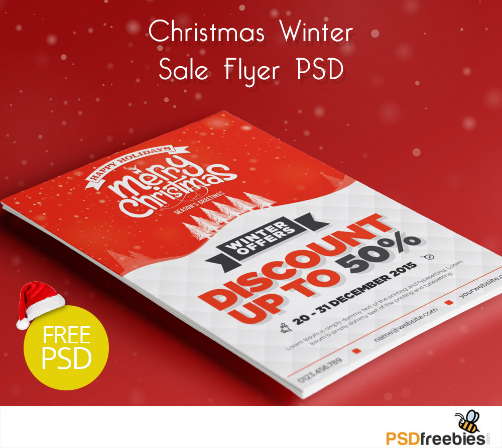 8 PSD Christmas Sale Images