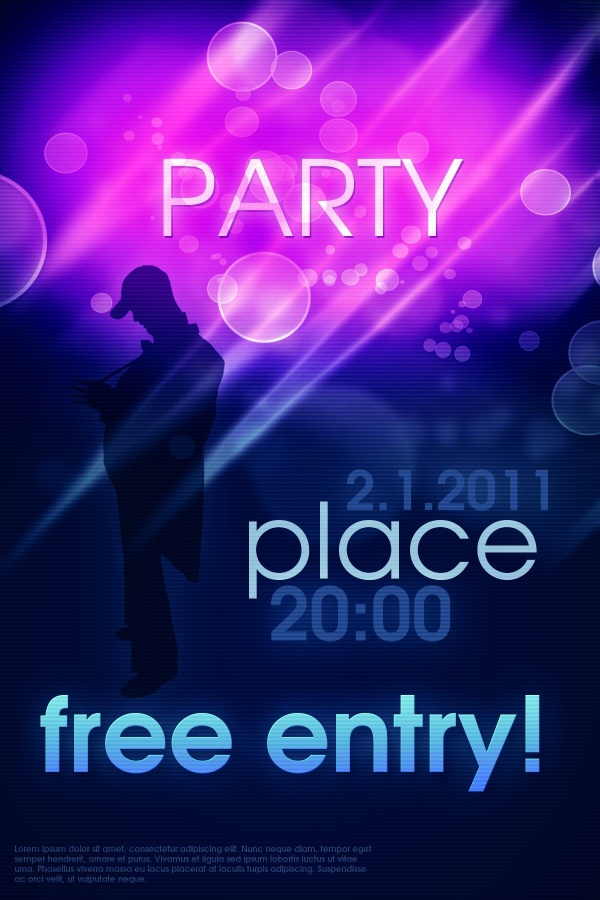 19 Party Poster PSD Images