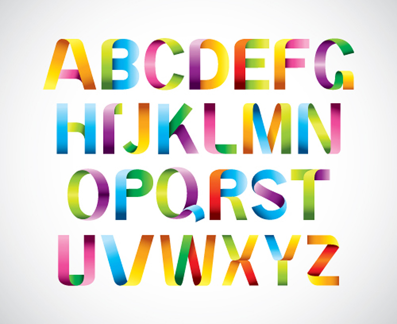 16 Fonts Alphabet Free SVG Images