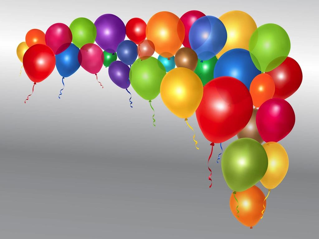 Free Vector Birthday Balloons