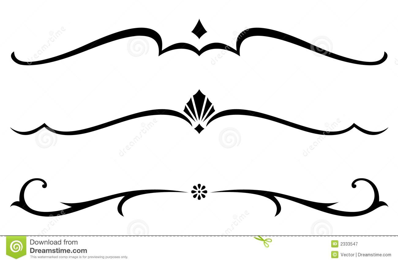 Simple Vector Line Art : Free vector decorative divider clip art images