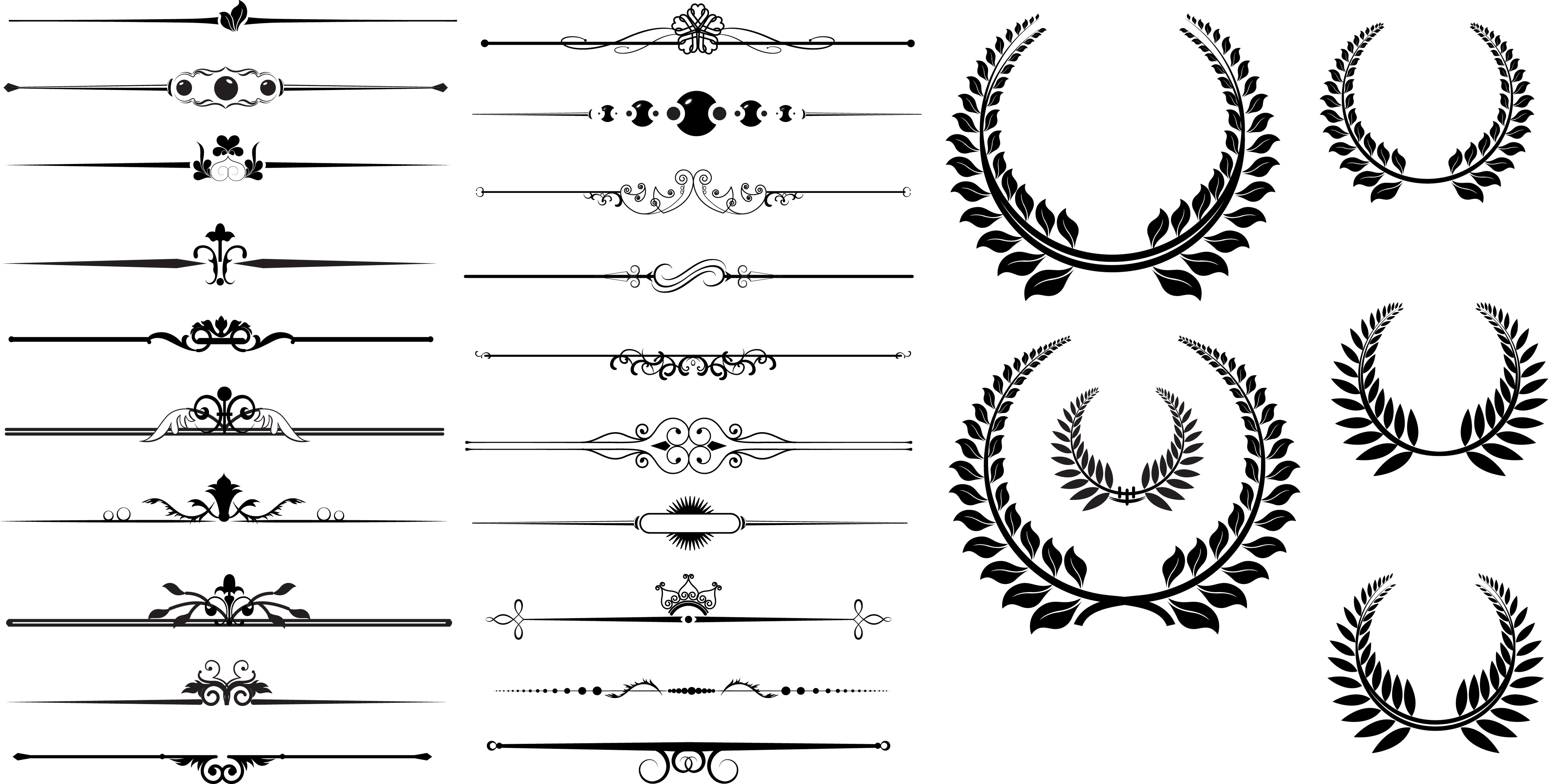 11 Free Vector Decorative Divider Clip Art Images - Free ...