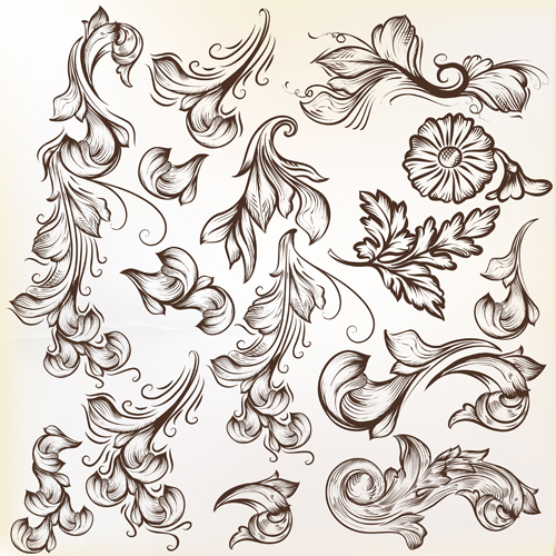 Free Vector Floral Swirl Designs