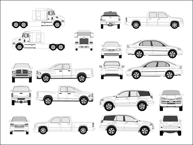 Free Vehicle Outline Templates
