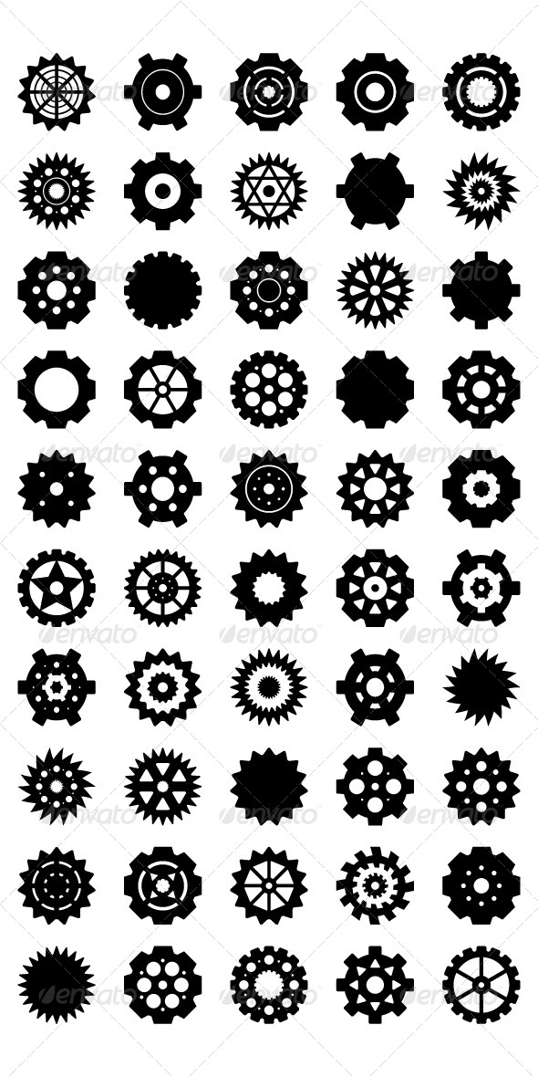 11 Gear Vector Circle Images