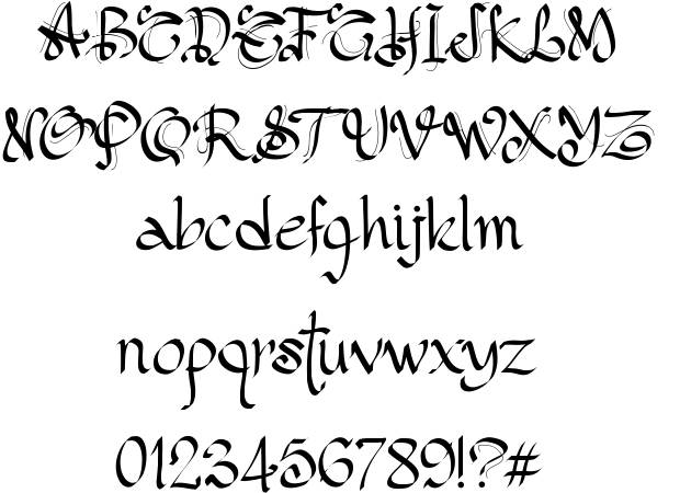 Gothic Style Lettering Fonts