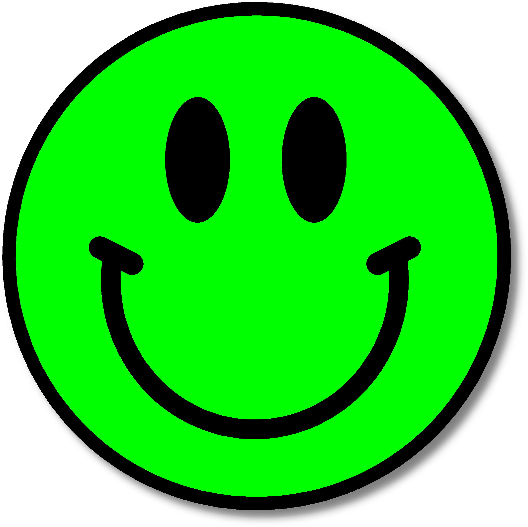 Green Happy Face