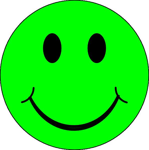 Green Happy Smiley Face