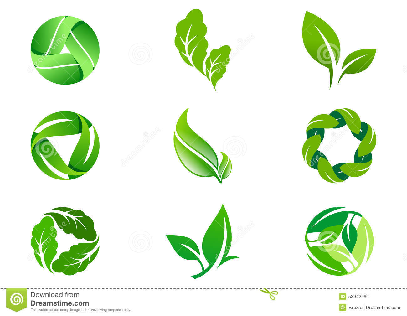 12 Environment Green Leaf Icon Images Environmental