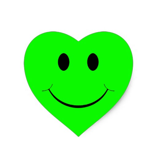 Green Smiley-Face Stickers