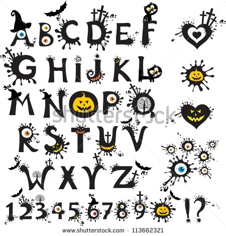 Halloween Alphabet Fonts