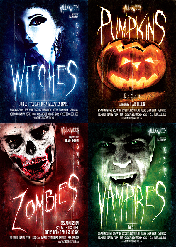 Halloween Flyer Templates 2015