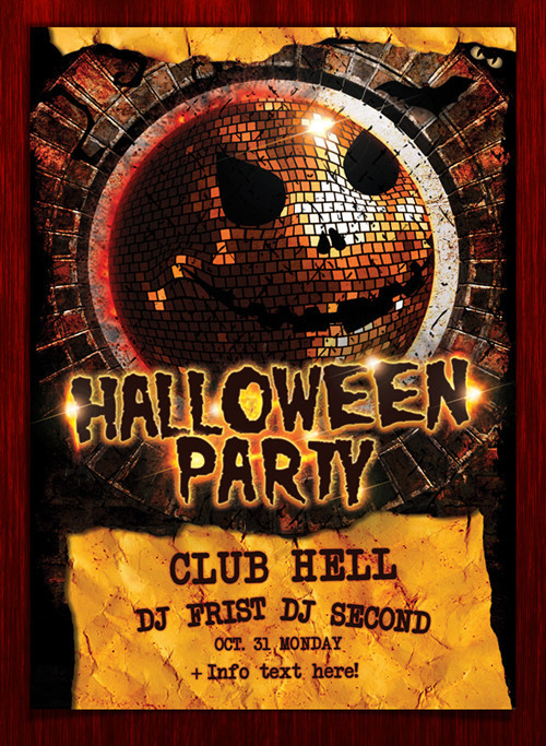 Halloween Party Flyer PSD Template
